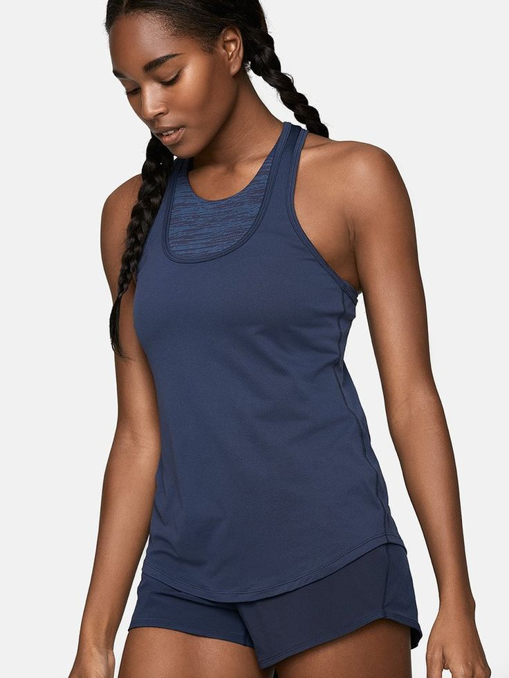 Featherweight tank with racer back. Plays it cool in any season.