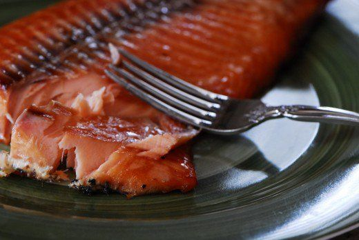 This smoked salmon was just taken off of the Big Green Egg and is ready to eat!  My oh my, is it delicious!
