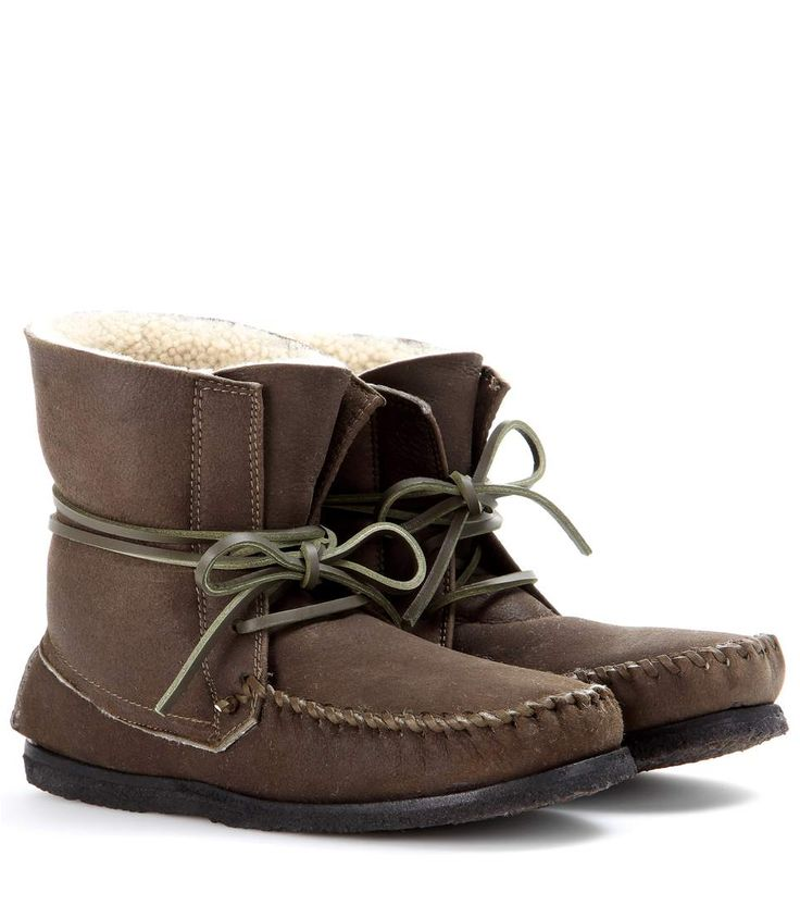ISABEL MARANT Eve Suede Moccasin Ankle Boots. #isabelmarant #shoes #boots