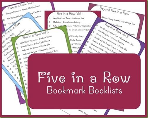 Five in a Row Booklist Bookmarks