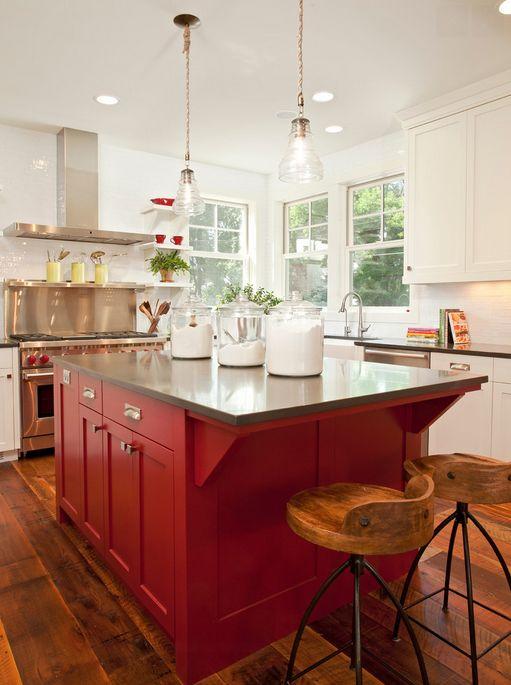 18 id es originales pour d corer sa cuisine avec du rouge cuisine and rouge. Black Bedroom Furniture Sets. Home Design Ideas