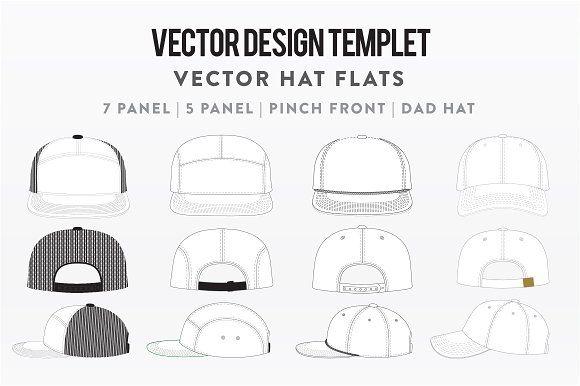 Hat Template Bundle Pack Vector Design Hat Vector Design