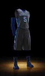 UK's new Nike Hyper Elite Platinum uniform made of recycled polyester.  Go Cats - Go green!