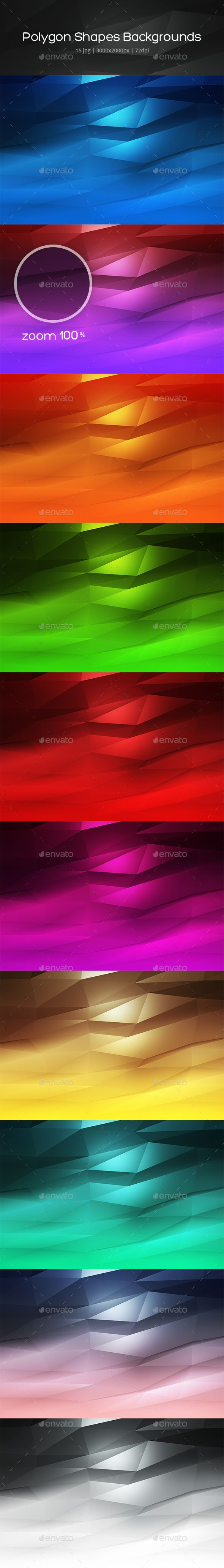 Polygon Shapes #Backgrounds - #Backgrounds #Graphics Download here:  https://graphicriver.net/item/polygon-shapes-backgrounds/20402154?ref=alena994