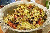 How to Make Shellfish Stock ~ Make your own shellfish stock with the shells from crabs, shrimp, and lobster.  Homemade shellfish stock recipe with photos and step-by-step instructions. ~ SimplyRecipes.com