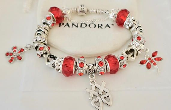 X0x0 Ravishing In Red Authentic Jared Pandora Bracelet Authentic