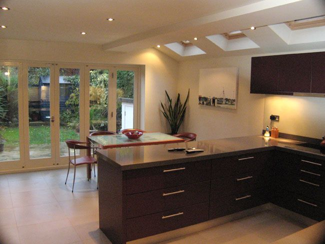(1 of 2) nice use of the side space with a u shaped kitchen