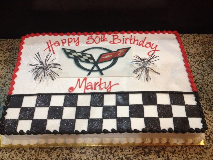 Corvette themed birthday cake