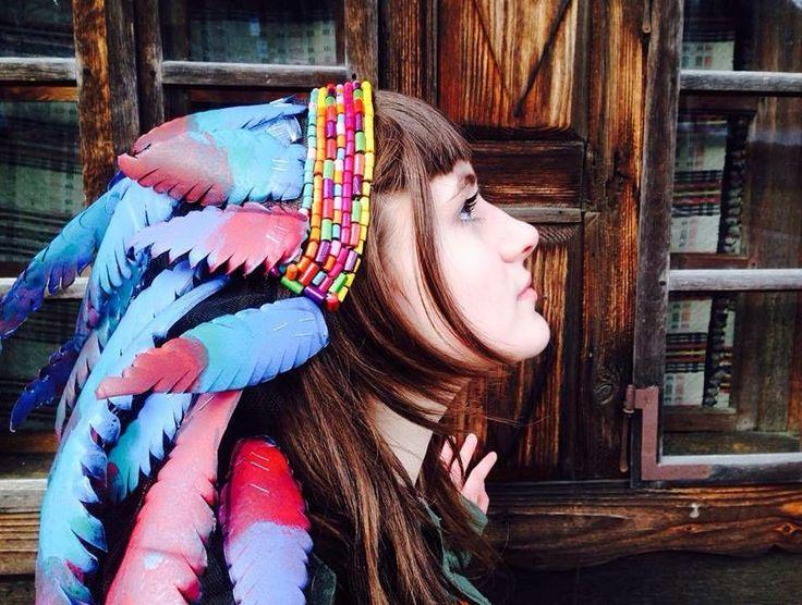 "30 aprecieri, 1 comentarii - 🌙Witchy Girl🌙 (@pap_andrada) pe Instagram: ""My new creation....native american headdress.. #headdress #headdresstattoo #headdresses…"""