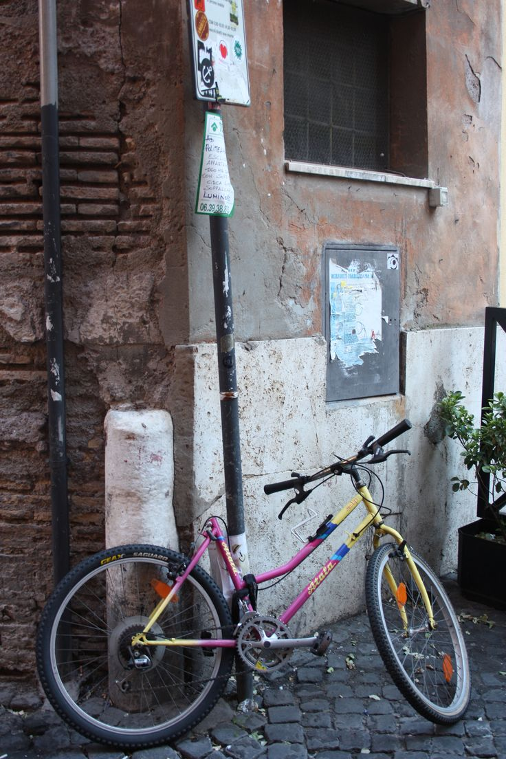 #colors #corner #Trastevere #Rome #bike #Bicycle #street