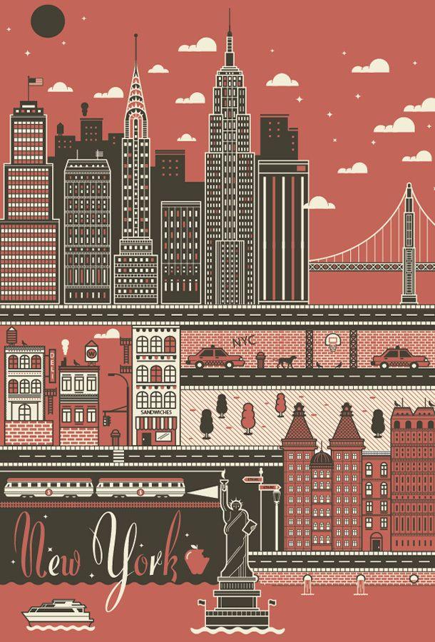 ilovedust new york I love dust   City Poster set