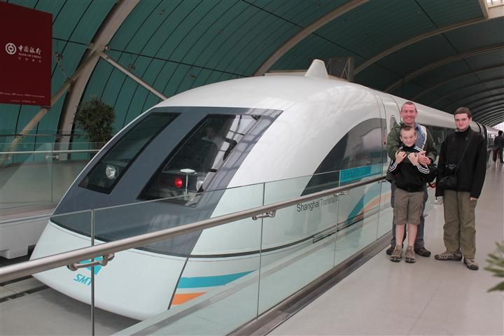 Of course we had to ride the Maglev super-fast train in Shanghai!