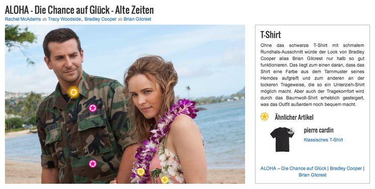 Ohne das schwarze T-Shirt mit schmalem Rundhals-Ausschnitt würde der Look von Bradley Cooper alias Brian Gilcrest nur halb so gut funktionieren. Das liegt zum einen daran, dass das Shirt eine Farbe aus dem Tarnmuster seines Hemdes aufgreift und zum anderen an der lockeren Trageweise, die so ein Unterzieh-Shirt möglich macht. Aber auch der Tragekomfort wird durch das Baumwoll-Shirt erheblich gesteigert, was das Outfit außerdem noch bequem macht.