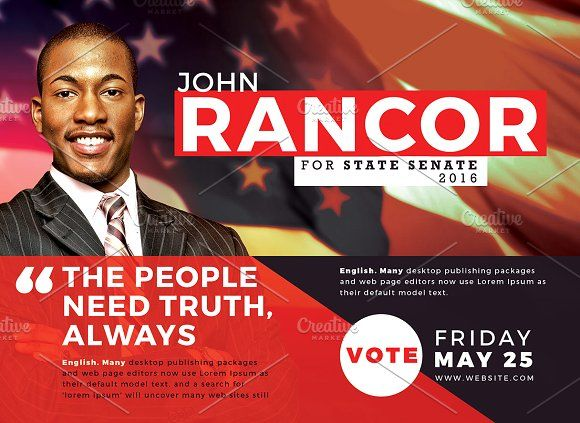 14 Best Political Brochure Templates Images On Pinterest Flyer
