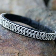 Sami Lapland Viking armband Men braided leather by ScandicraftRU