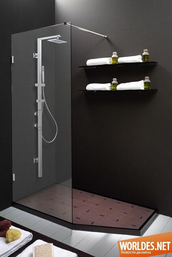 Современные ванные комнаты с римским душем. Дизайн ванной комнаты фото 5