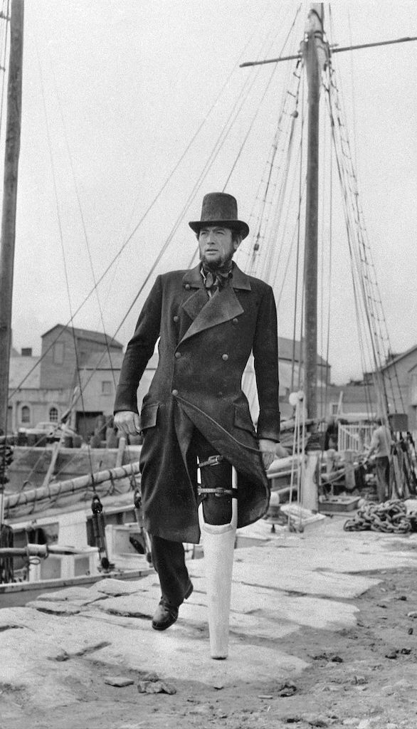 Gregory Peck = Capitão Ahab , Moby Dick,  1954