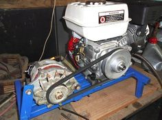 Picture of Off grid LPG (propane or biogas) powered generator/Battery Charger conversion from petrol engine. Plus other useful power stuff i.e. using car alternator to produce 12v & 24v dc