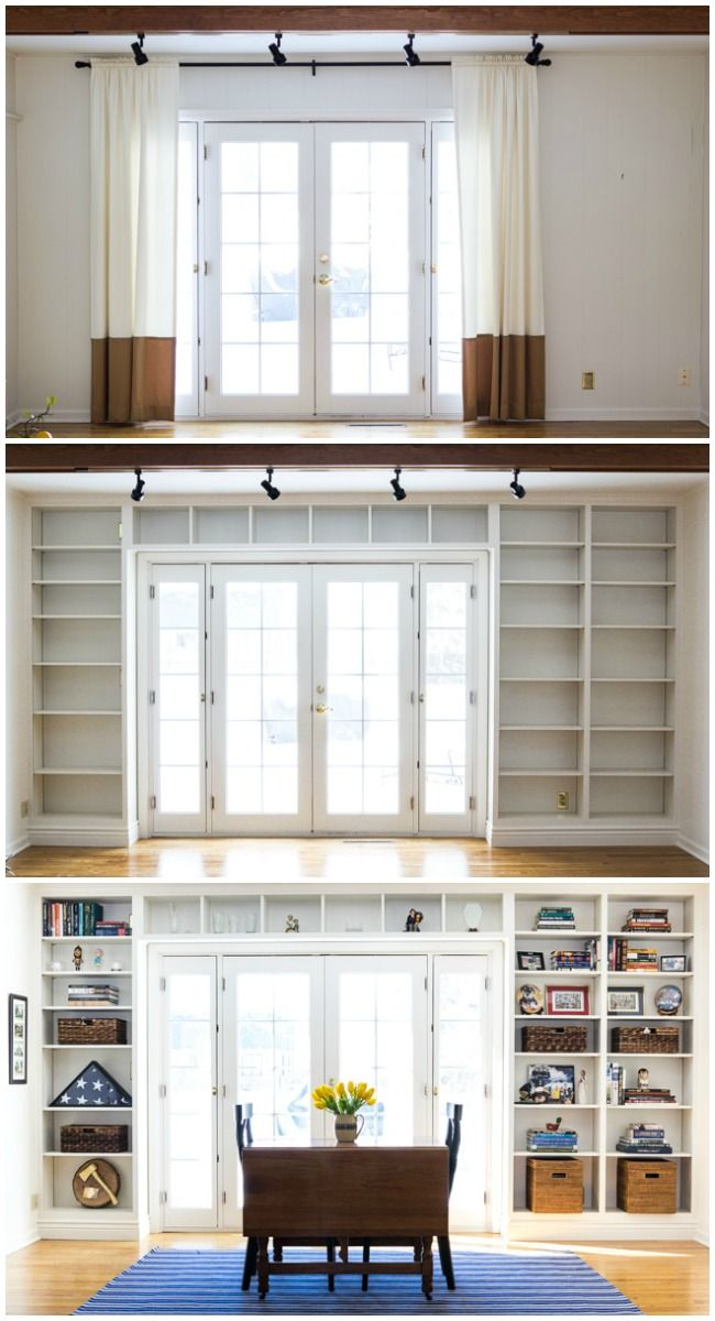 *Built In Bookshelves* | Get the details for this amazing transformation! | from On Sutton Place