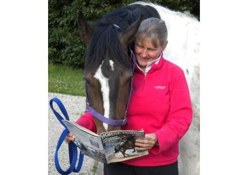 Alison Jarman and her horse in North Yorkshire
