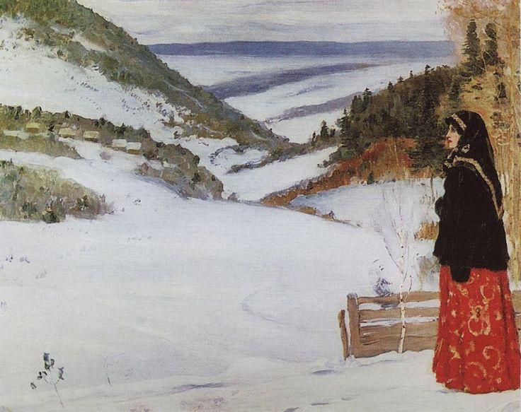 Михаил Васильевич Нестеров » Картины, живопись » Зима в монастыре, 1904