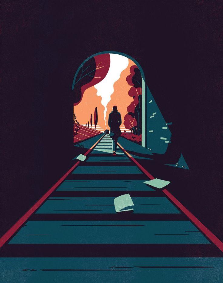 Tom Haugomat es un ilustrador que nació en la ciudad de París, donde todavía reside y que tas acabar sus estudios de comunicación visual en la famosa escuela Gobelins se embarcó en la una exitosa carrera en el mundo de la animación. Pero en los últimos tiempos su amor por la ilustración ha ido creciendo. Hoy en día Tom es un ilustrador consagrado con un buen trabajo basado en un fuerte sentido de la composición y una gran paleta de colores, que le permite crear atmósferas melancólicas…