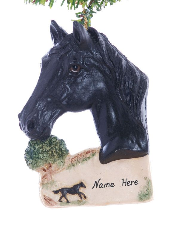 Solid Black Horse Christmas Ornament by Christmaskeeper on Etsy