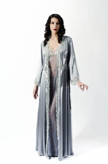 Liliana Casanova Montaigne Dressing Gown | Silk Dressing Gowns ...