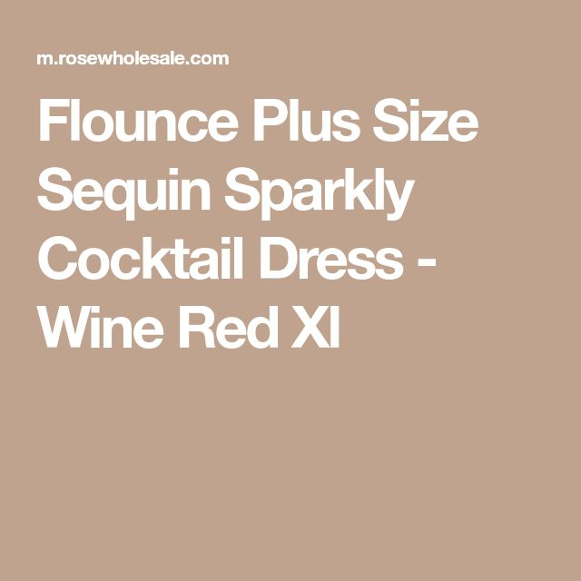Flounce Plus Size Sequin Sparkly Cocktail Dress - Wine Red Xl