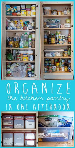 Organize the kitchen pantry in one afternoon