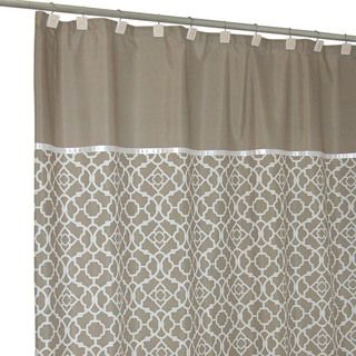 Lovely Lattice Taupe Shower Curtain   Overstock™ Shopping   Great Deals On Shower  Curtains