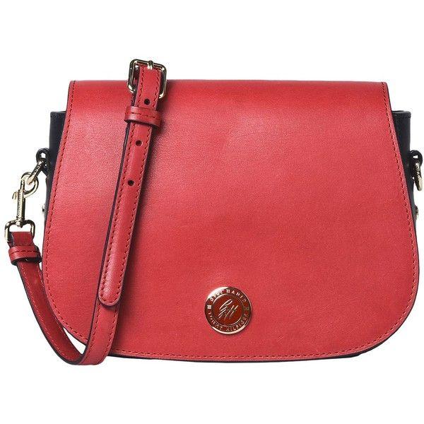 Gigi Hadid X Tommy Hilfiger Handbag (£196) ❤ liked on Polyvore featuring bags, handbags, red, mini handbags, red leather handbags, real leather purses, red leather purse and red handbags