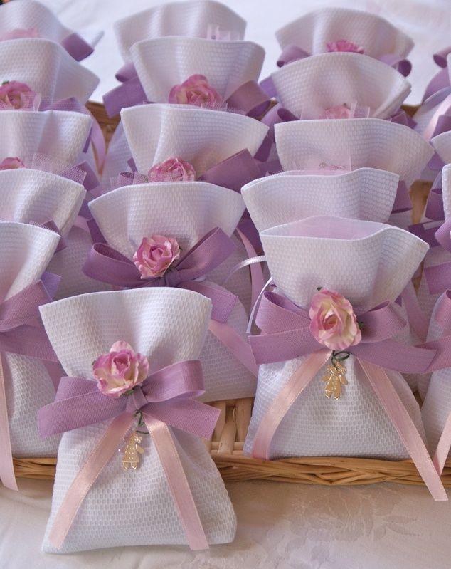 Sacchettini decorati e fai da te per la Prima Comunione di una bambina