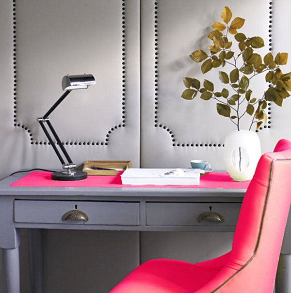 neon pink office decor2 Fluorescent Decor: Neon Interior Design Ideas to Brighten Your Space