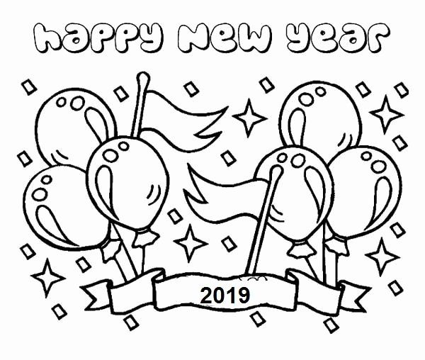 Printable Happy New Year Coloring Pages For Kids New Year
