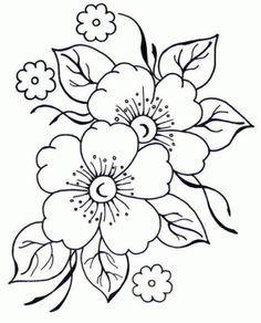 Patrones de flores para bordar - Imagui
