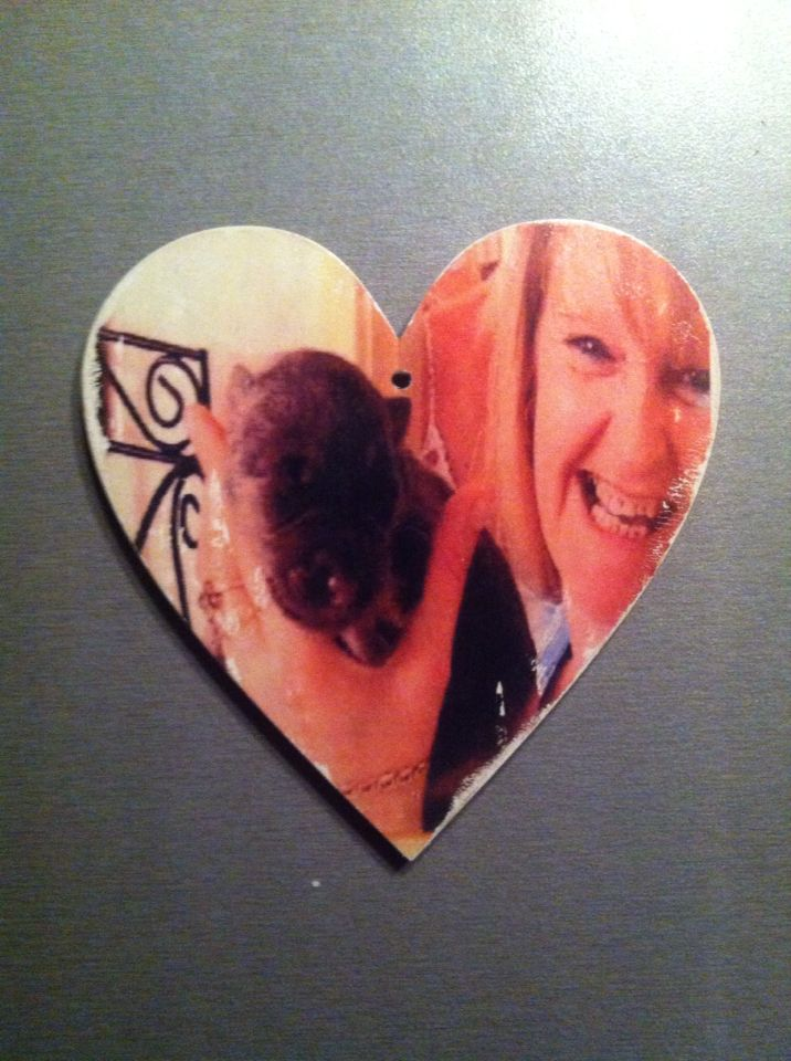 My beautiful mum. Hanging wooden heart. Photo transfer on wood. Gift. Remembrance
