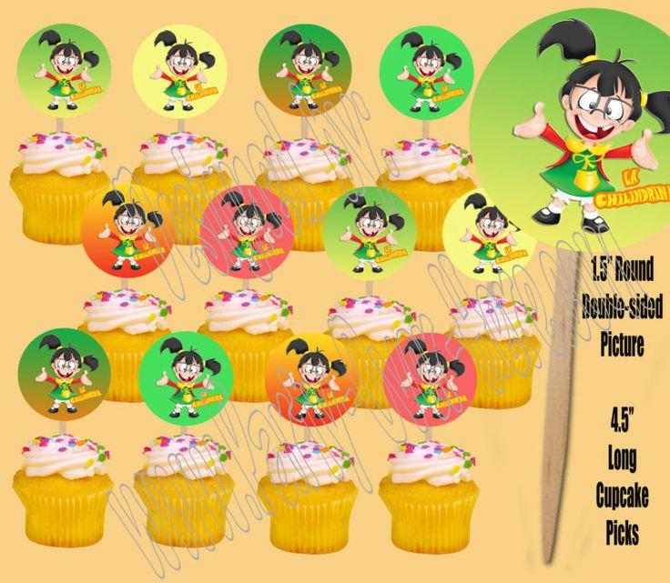 Cute idea for la chilindrina cupcake toppers