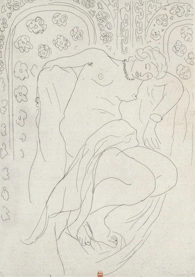 Henri Matisse, Figure endormie sur fond de moucharabiah, 1903