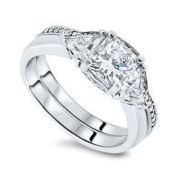 2.43ct Diamond Engagement Ring Set