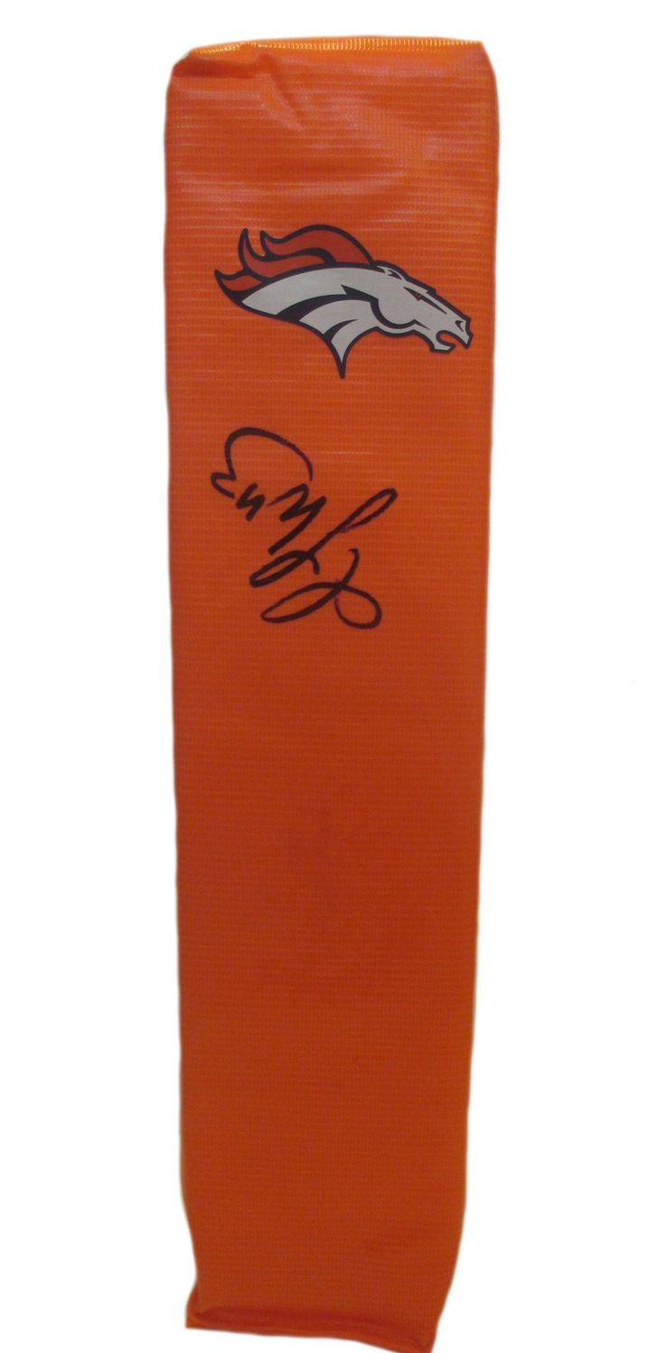 T.J. Ward Autographed Denver Broncos Full Size Football End Zone Touchdown Pylon, Proof. This is a brand-new custom T.J. Ward signed Denver Broncos full sizefootball end zone pylon. This pylon measures 4inches (Width) X 4inches (Length) X 18inches (Height). T.J. signed the pylonin black sharpie.Check out the photo of T.J. signing for us. ** Proof photo is included for free with purchase. Please click on images to enlarge. Please browse our websitefor additional NFL & NCAA…