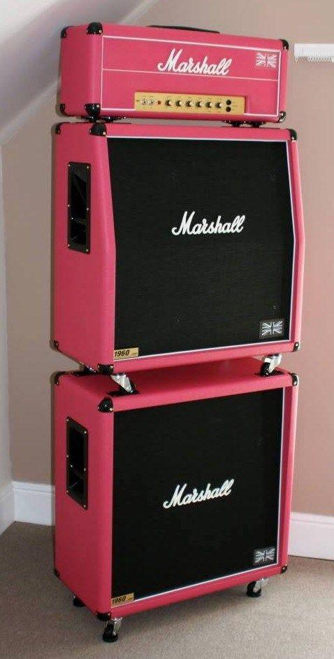 Pink Marshall Guitar Amp