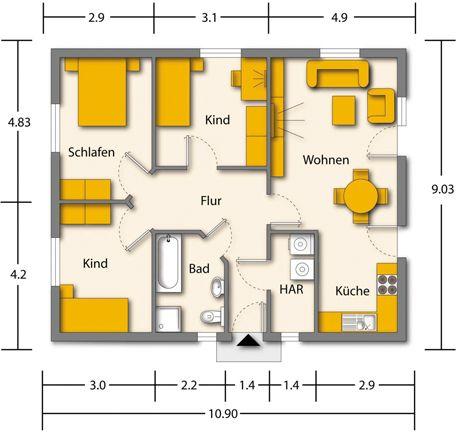 Grundriss altersgerechter bungalow die neuesten innenarchitekturideen - Dachformen architektur ...