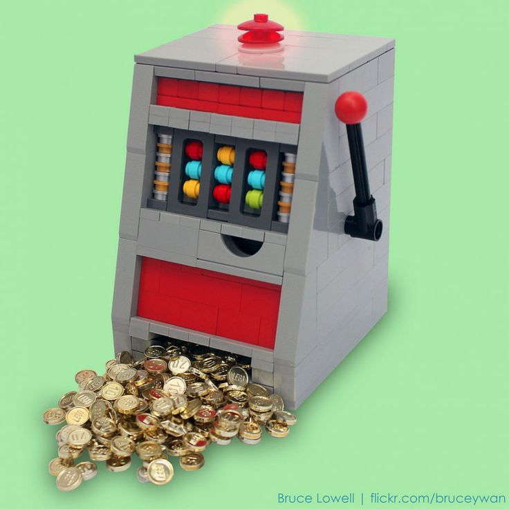 Máquina tragaperras hecha con LEGO