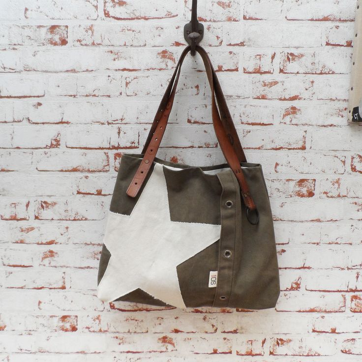 Sac vintage SO Star, cool, huhter green, casual, bag