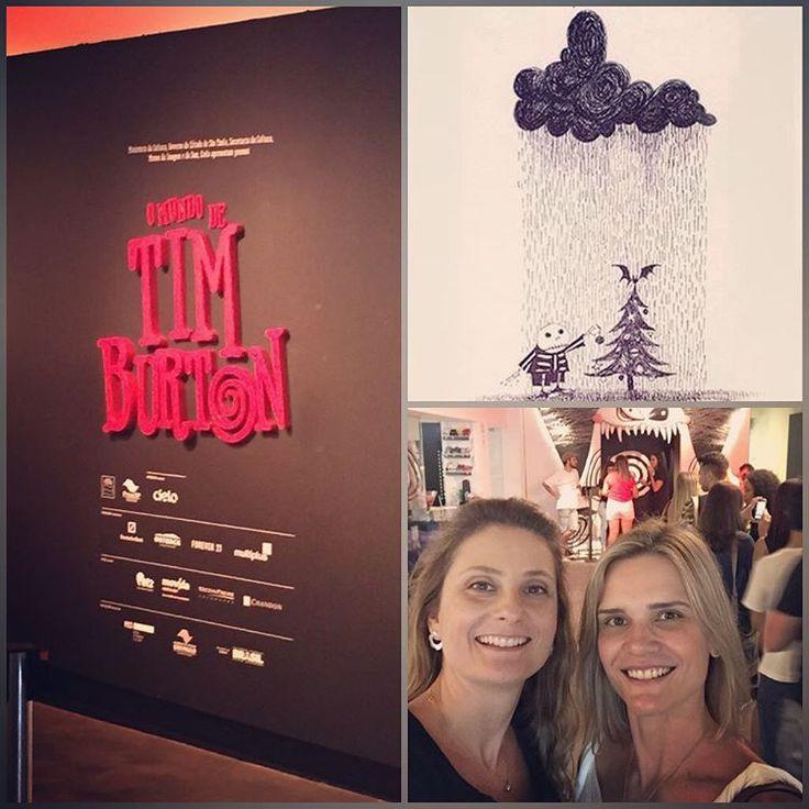 """""""Hoje fomos à exposição do Mundo de Tim Burton no MIS de SP. Adoramos! Obrigado @pheniciaconcept_oficial @robertamaranhao @tatiflo_arq…"""" #raparquitetura #anaveirano #aleriera"""