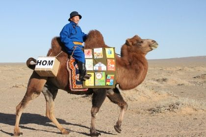 "Mongolia's Mobile Library service - by camel: ""After eating candies there remains nothing. But after reading a book you will have it in your head."" Over the last 20 years, the Mobile Library has travelled a total of 81,000km through all the provinces of Mongolia.  #Literacy #Library #Mobile_Library #Camel #Mongolia #Dashdondog_Jamba"