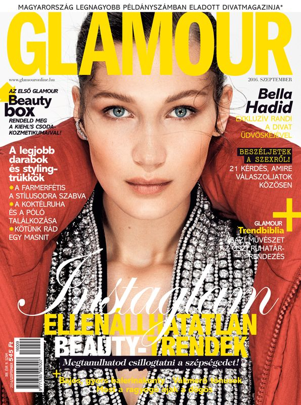 Bella Hadid. September 2016 issue. Photo by Nathaniel Goldberg