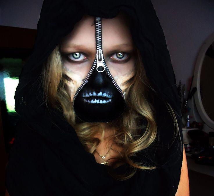 Reißverschluss make up Halloween Horror Gesicht Latex Kunstblut schwarze Farbe in Kleidung & Accessoires, Kostüme & Verkleidungen, Accessoires | eBay!