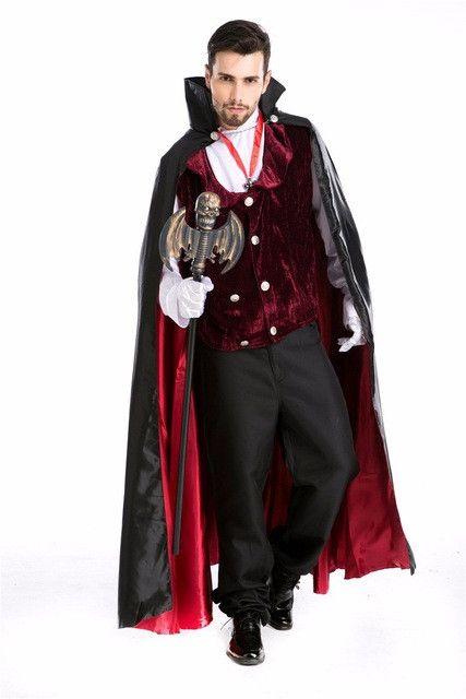 Gothic Vampire costume men halloween costume for men victorian dress disfraces halloween victorian period costume disfraz hombre